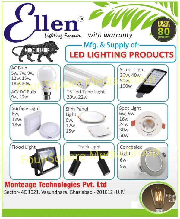 Led Lighting Products, Led Lights, AC Bulbs, Surface Lights, Flood Lights, T5 Led Tube Lights, Slim Panel Lights, Track Lights, Street Lights, Spot Lights, Concealed Lights, Conceal Lights