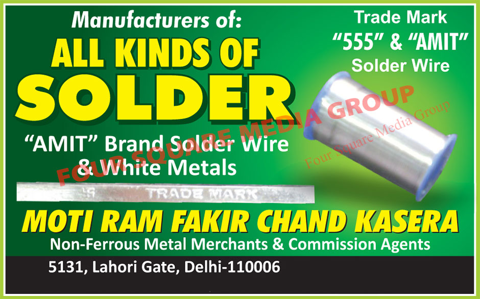 Solder Wires, White Metals