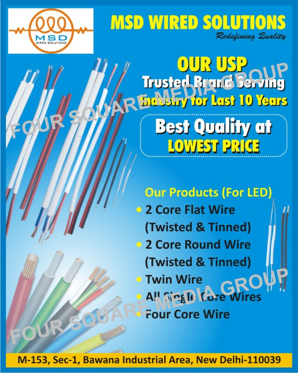 Led 2 Core Flat Wires, Led Twisted Flat Wires, Led Tinned Flat Wires, Led 2 Core Round Wires, Led Twin Wires, Led Single Core Wires, Led Four Core Wires, Automotive Led Cables, Halogen Free Wires, High Temperature Wires