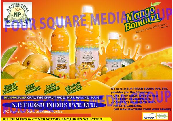 Fruit Juices, Fruit Bars, Squashes, Fruit Pulps