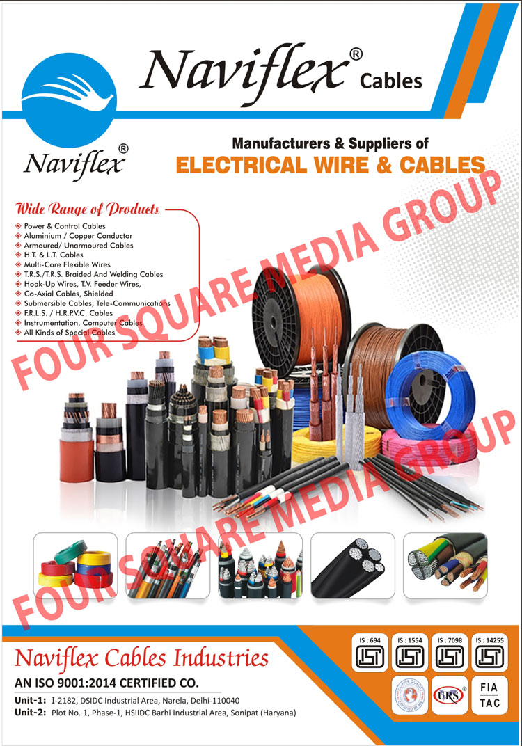 Electrical Wires, Electrical Cables, Power Cables, Control Cables, Aluminium Conductors, Copper Conductors, Armoured Cables, Unarmoured Cables, HT Cables, LT Cables, Multi Core Flexible Wires, TRS Braided, Welding Cables, Hook Up Wires, TV Feeder Wires, Co Axial Cables, Submersible Cables, Telecommunication Cables, FRLS Cables, HR PVC Cables, Instrumentation Cables, Computer Cables