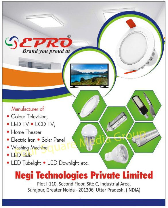 Colour Television, Color Television, Led TV, LCD TV, Home Theater, Electric Iron, Solar Panels, Washing Machine, Led Bulbs, Led Tube Lights, Led Down Lights