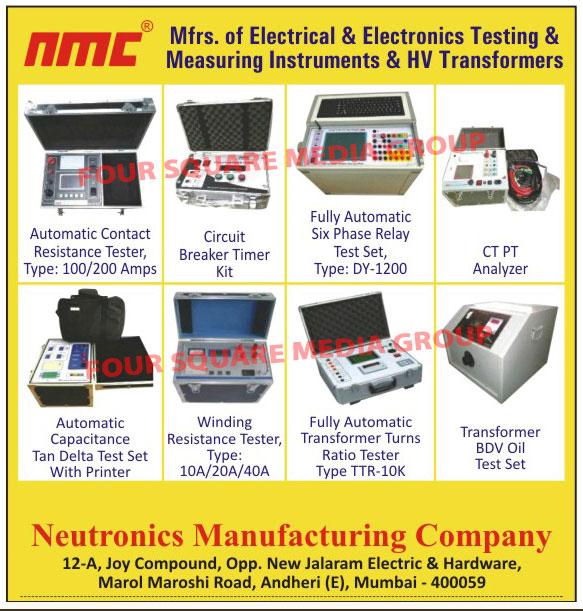 Transformer Winding Resistance Meters Digital Tap