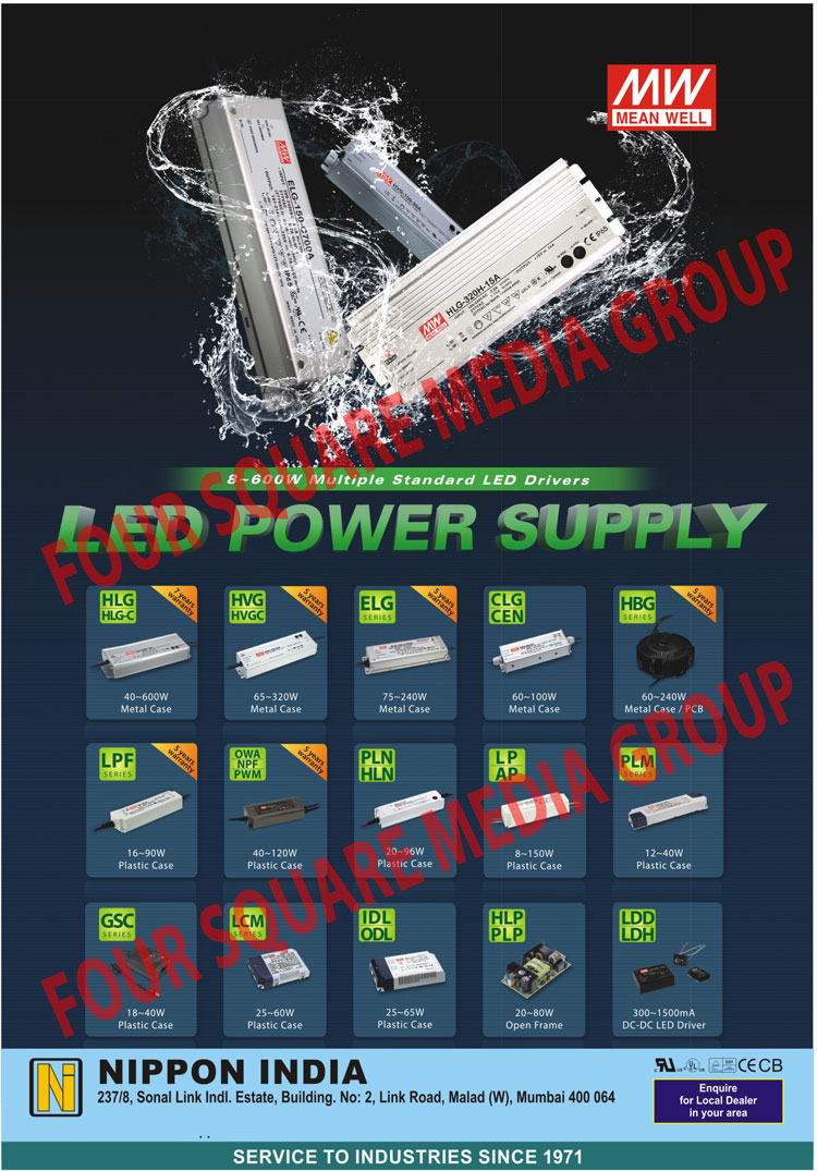 Led Drivers, Metal Case Led Drivers, Metal Case PCB Led Drivers, Plastic Case Led Drivers, Open Frame Led Drivers, DC DC Led Drivers