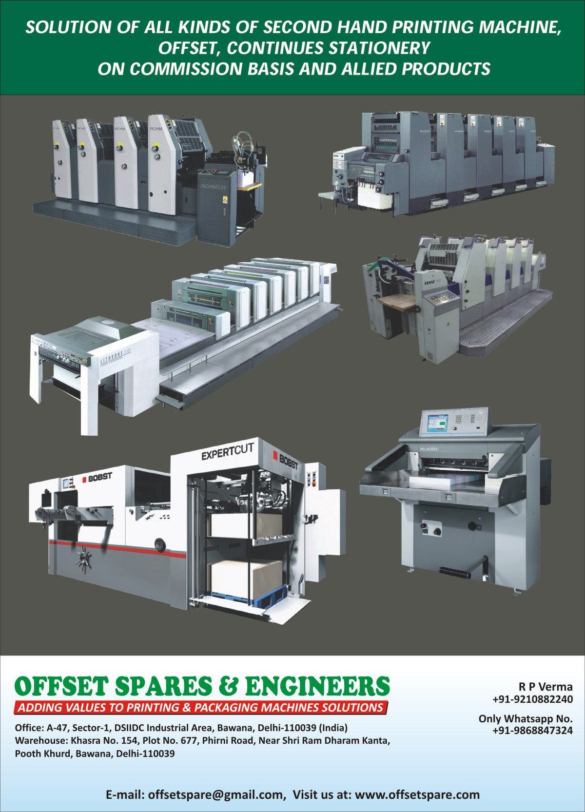 Used Offset Printing Machines Diagram Press Continues Stationary