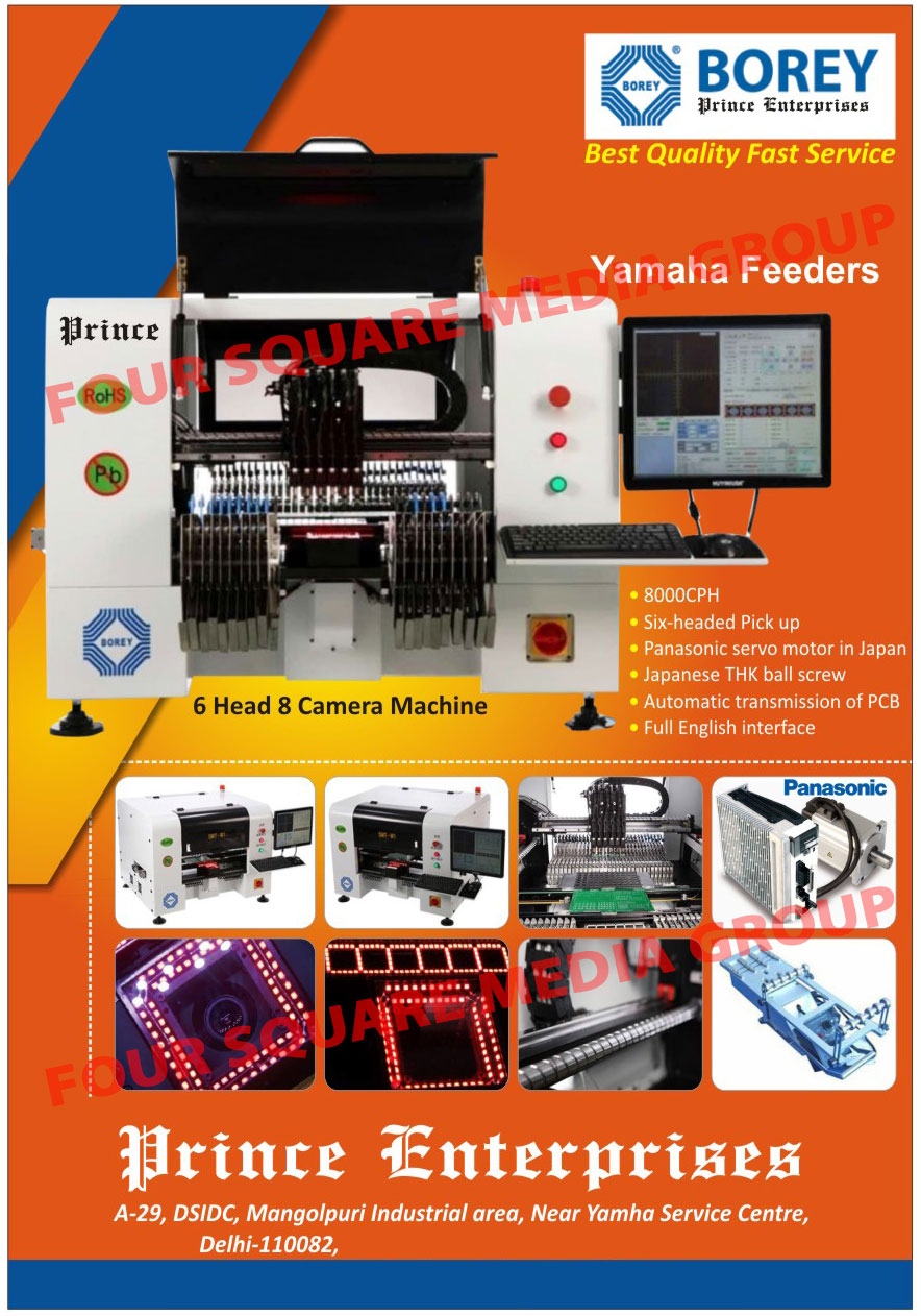 Led Bulbs, Mobile Chargers, SMD, PCB, Printed Circuit Boards, Led Mounting Board DC 4to 12V, AC Led PCB Boards, Ball Screws, Servo Motors, 6 Head 8 Camera Machines, Laser Marking Machines