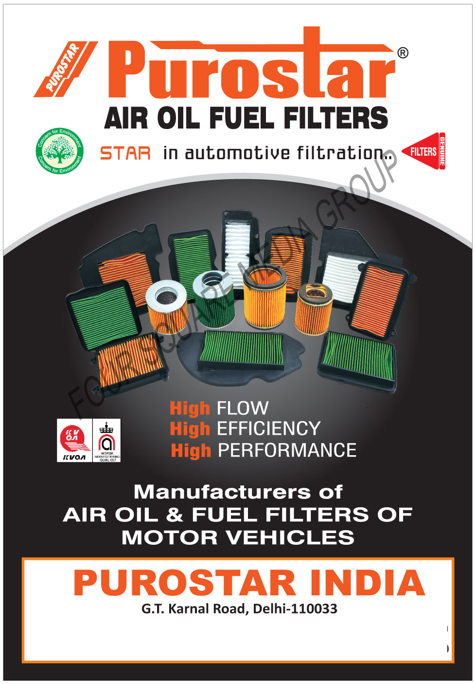 Automotive Filters Air Oil Fuel Purostar High Performance