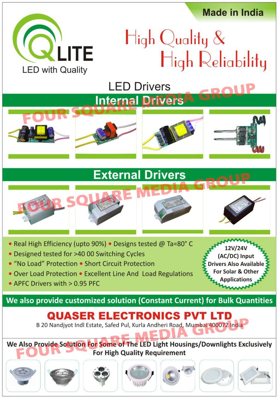 Led Drivers, AC Drivers, DC Drivers, AC DC Drivers, Internal Led Drivers, External Led Drivers, Solar Led Drivers