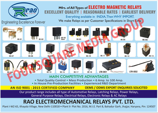 Electro Magnetic Relays, Customised Relays, Customized Relays, Automotive Relays, Power Relays, General Purpose Relays, Electrical Relays, Electronic Relays, AC Relays, Latching Relays,Automotive electrical parts, Automotive Brake Lights, Automotive Fuse Holder, Automotive Halogen Bulb, Automotive Harness, Automotive Ignition Module, Automotive Ignition Parts, Automotive Lamp Parts, Automotive LED Lamp, Automotive Lighting Harness, Automotive Lighting Parts, Automotive Miniature Lamp, Automotive Starter Parts, Automotive electronic parts