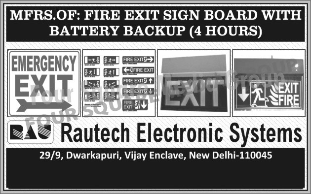 Fire Exit Sign Boards Battery Backup, Fire Exit Sign Boards