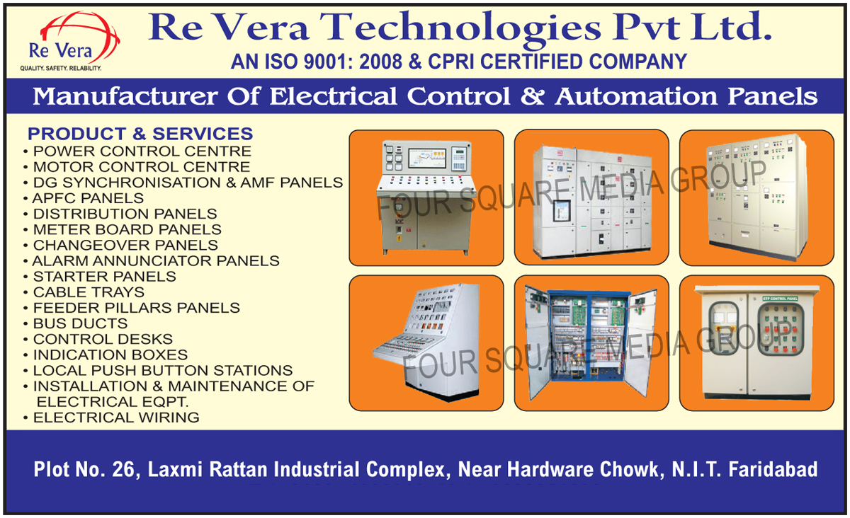 Electrical Control Panels, Automation Panels, Power Control Centres, Motor Control Centres, DG Synchronisation Panels, AMF Panels, APFC Panels, Distribution Panels, Meter Board Panels, Changeover Panels, Alarm Annunciator Panels, Starter Panels, Cable Trays, Feeder Pillar Panels, Bus Ducts, Control Desks, Indication Boxes, Local Push Button Stations, Installation Of Electrical Equipments, Maintenance Of Electrical Equipments, Electrical Wirings, Electrical Equipments Installations, Electrical Equipments Maintenance
