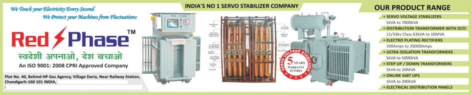 Servo Voltage Stabilizers, Online Ups, LT Panels, AC Stabilizers,Distribution Transformers, Electro Plating Rectifiers, Ultra Isolation Transformers, Step Up Transformers, Step Down Transformers, Online IGBT UPS, Electrical Distribution Panels
