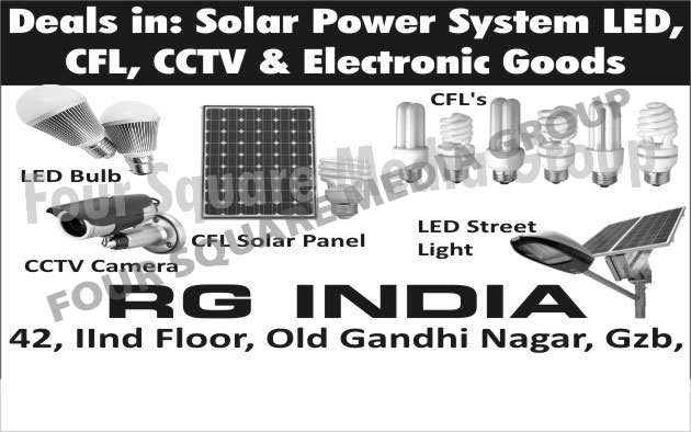 Led Lights, Led Bulbs, Led Street Lights, CFL, CCTV Camera, CFL Solar Panels, Electronic Goods