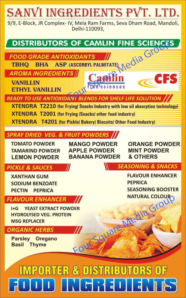 Xanthan Gum | Sodium Benzoate | Pectin | Peprica | Food Grade