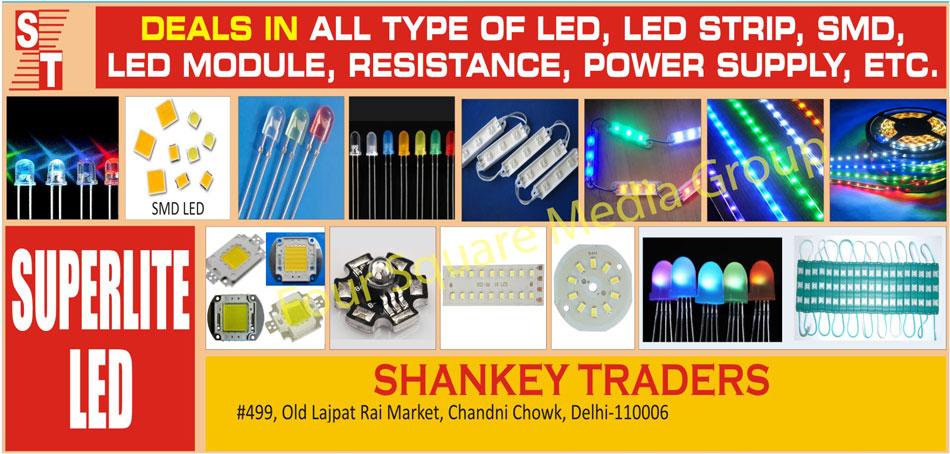 Led Drivers, Led SMPS, Strip Lights, Led Power Supply, LED, SMDs, Led Modules, Led Resistance, SMD Led