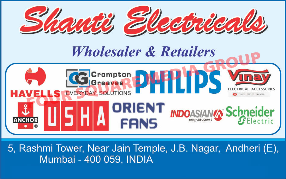 Light Products, Fans, Geysers,Portable Ammeters, AC Meters, Testers
