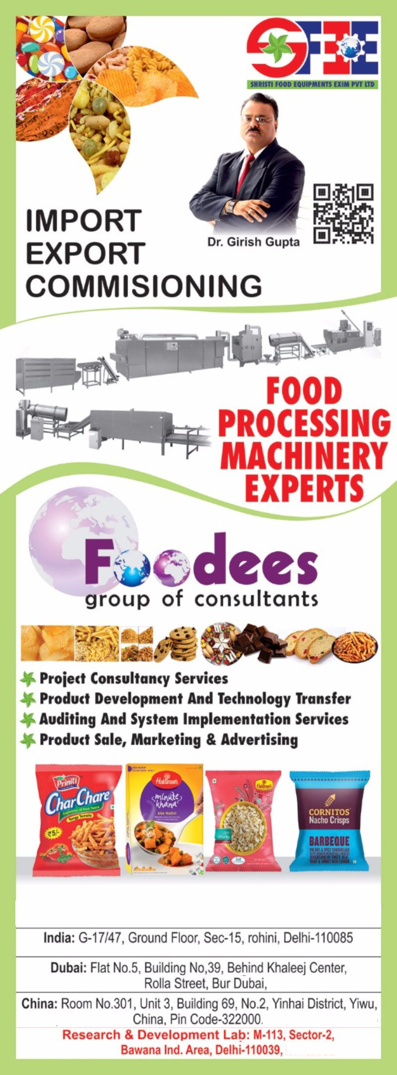 Food Consultancy Service, Food Processing Machines, Food Processing Machinery