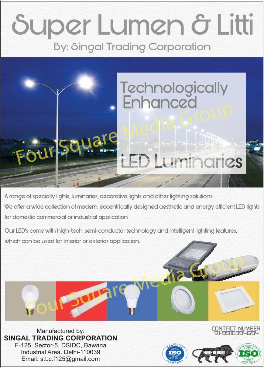 Led Lights, Led Luminaries, Decorative Lights, Domestic Led Lights, Commercial Led Lights, Industrial Led Lights