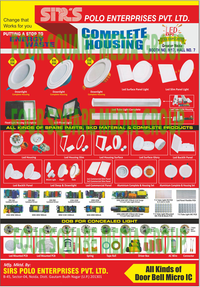 Led Light Raw Materials, SKD Form Lights, Led Products, Isolated Drivers, Tube Lights, PVC Tapes