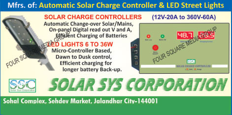 Solar Charge Controllers, Led Lights, Led Street Lights