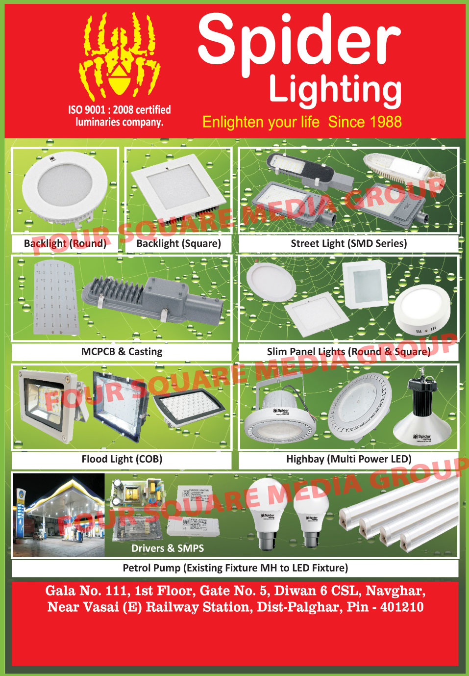 MCPCB, Aluminium Die Castings, Street Lights, Led lights, Led Bulbs, Led Tube Lights, Led Street Lights, Bay Lights, Flood Lights, Led Drivers, Panel Lights, Down Lights,Die Casting Street Lights, Bay Lights, Bulb, Tube Lights, Flood Lights, Drivers, Round Led Backlights, Round Led Back Lights, Square Led Backlights, Square Led Back Lights, Led Round Backlights, Led Round Back Lights, Led Square Backlights, Led Square Back Lights, SMD Street Lights, Round Slim Panel Lights, Square Slim Panel Lights, COB Flood Lights, Led High Bay Lights, SMPS, Petrol Pump Fixtures