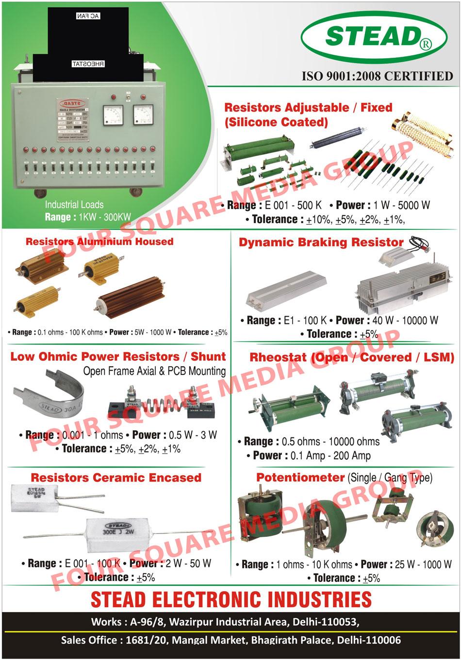 Industrial Loads, Resistor Aluminium Housed, Low Ohmic Power Resistors, Dynamic Breaking Resistors, Adjustable Resistors, Fixed Resistors, Open Rheostat, Covered Rheostat, Rheostat, Single Type Potentiometer, Gang Type Potentiometer, Resistor Ceramic Encased,Shunts, Wirewound Resistors, Axial Resistors, Ceramic Encased Resistors, Aluminium Housed Resistors, Wirewound Rheostats, Loading Rheostats, Wirewound Potentiometers, Auto Variable Transformers, DBR, Dynamic Braking Resistors