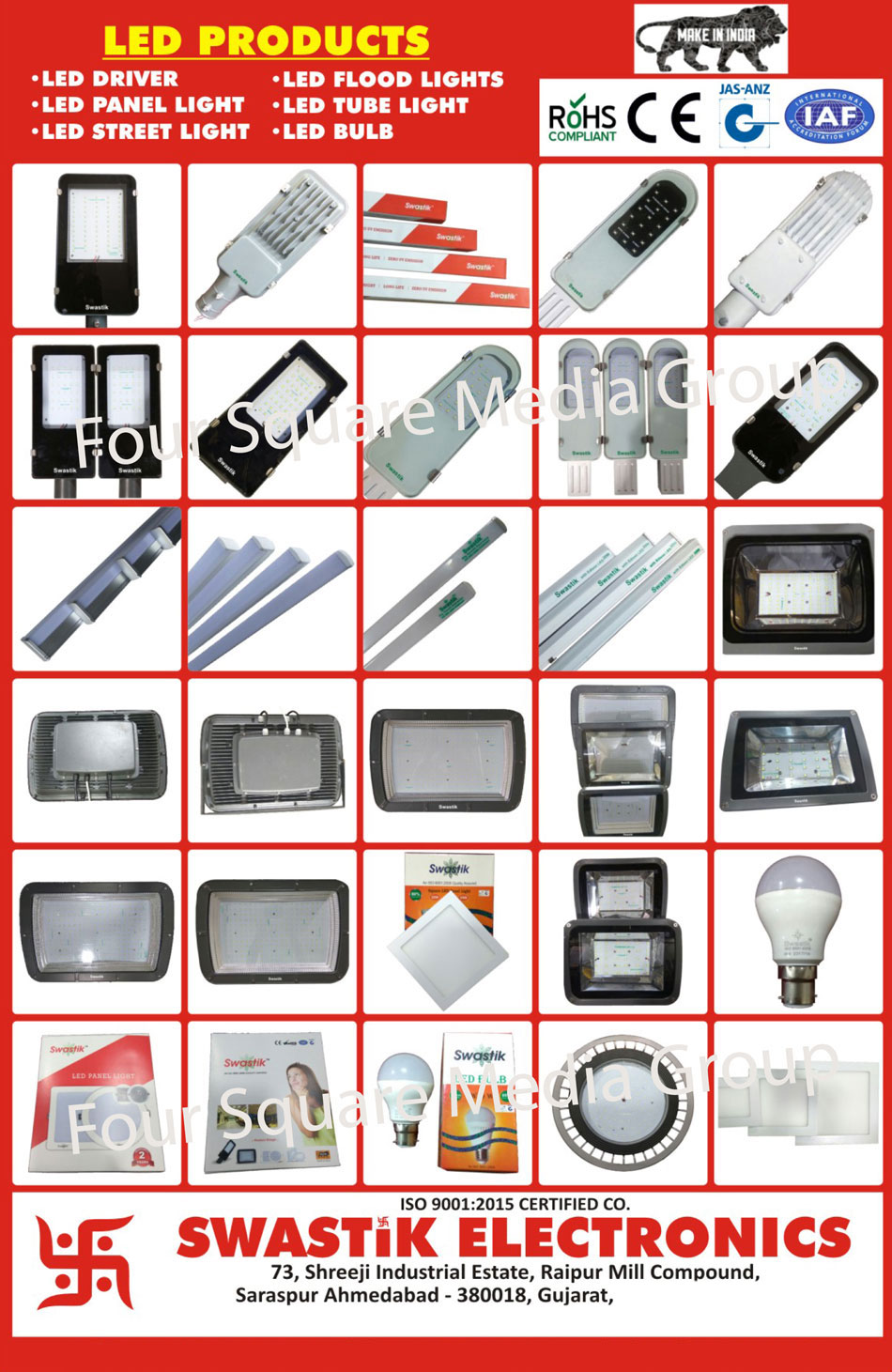 Led Lights, Led Panel Lights, Led Street Lights, Led Tube Lights, Bulbs, Led Drivers, Led Flood Lights