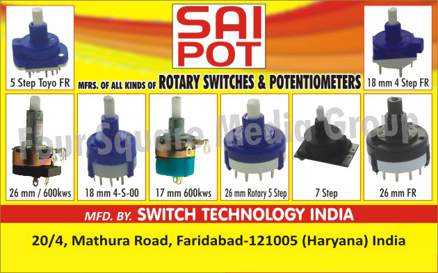 Rotary Switches, Potentiometers
