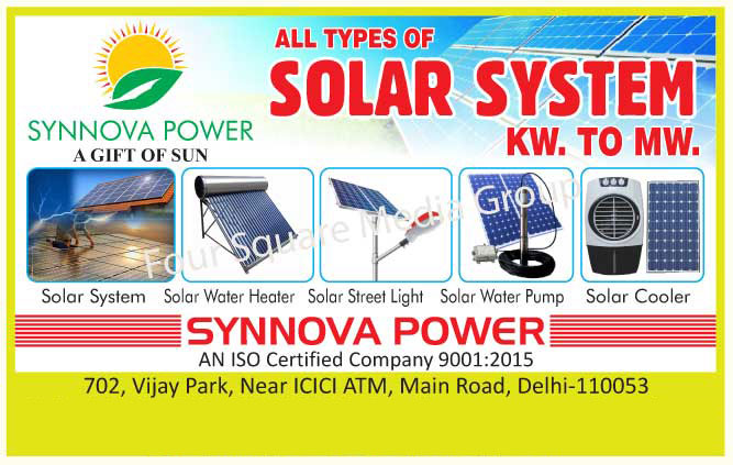 Solar Systems, Solar Water Heaters, Solar Street Lights, Solar Water Pumps, Solar Coolers