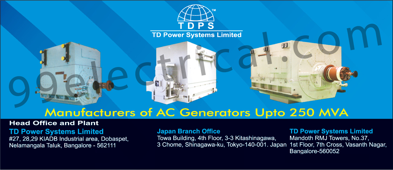 AC Generators | Electrical Products - TD Power Systems Limited