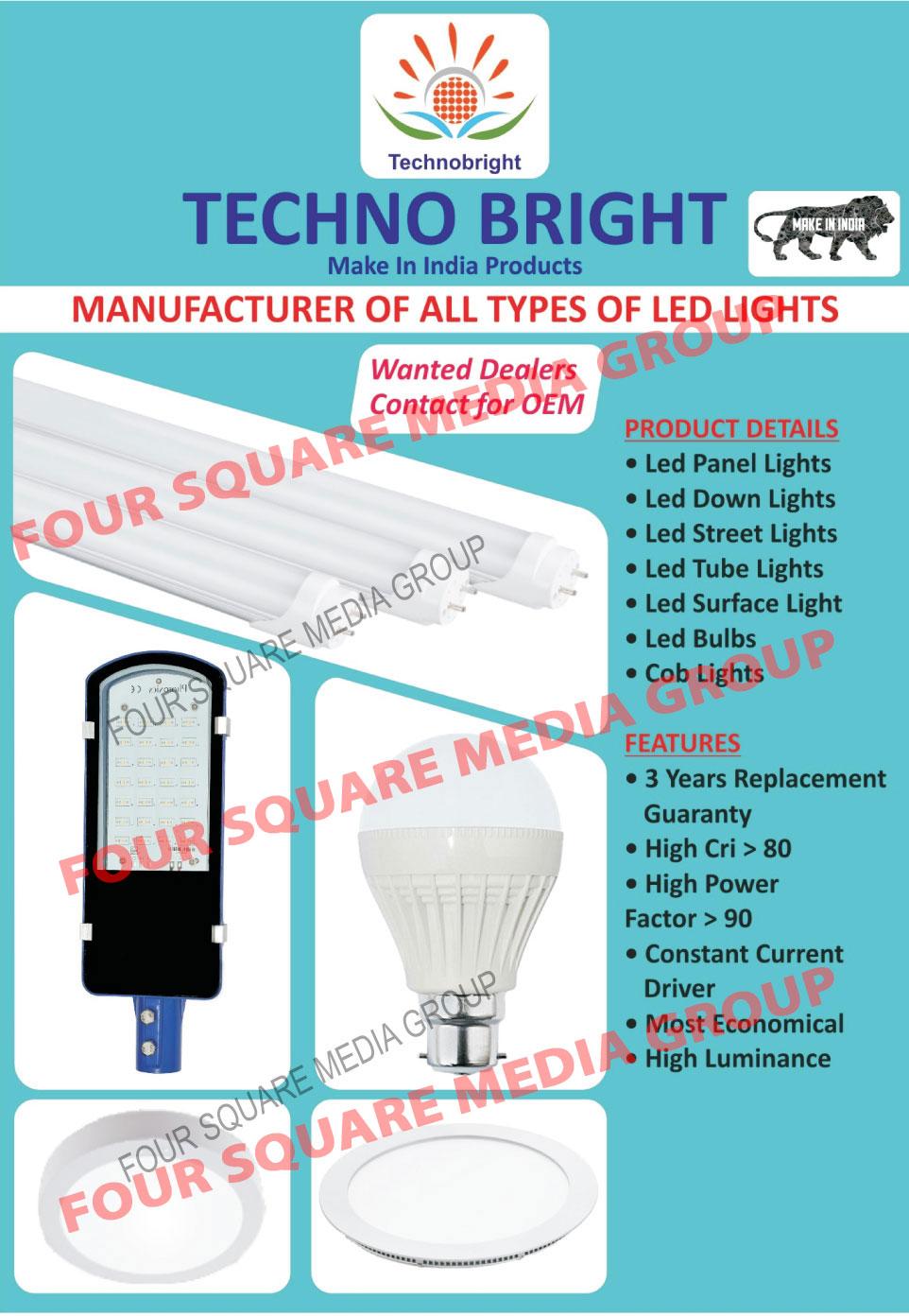 Led Lights, Led Panel Lights, Led Down Lights, Led Street Lights, Led Tube Lights, Led Surface Lights, Led Bulbs, Cob Lights