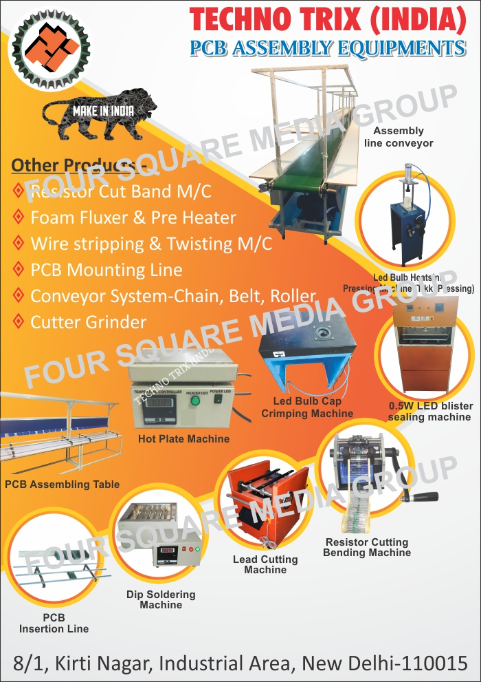 Pcb Assembly Equipments Printed Circuit Board Assemblies Making Boards Resistor Cut Band Machines Foam