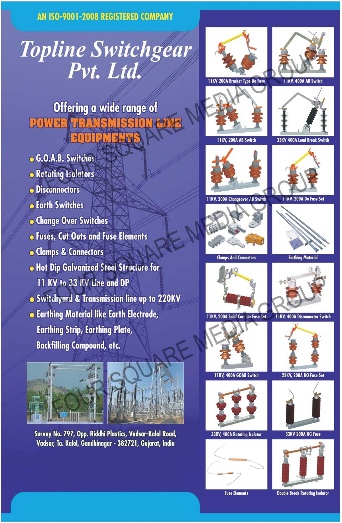 Power Transmission Line Equipments | GOAB Switches | Rotating
