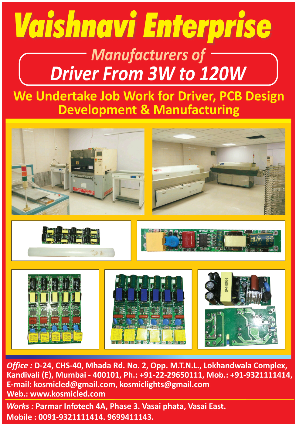 Led Drivers, PCB Designing Services, Printed Circuit Board Designing Services, Led Driver Job Works
