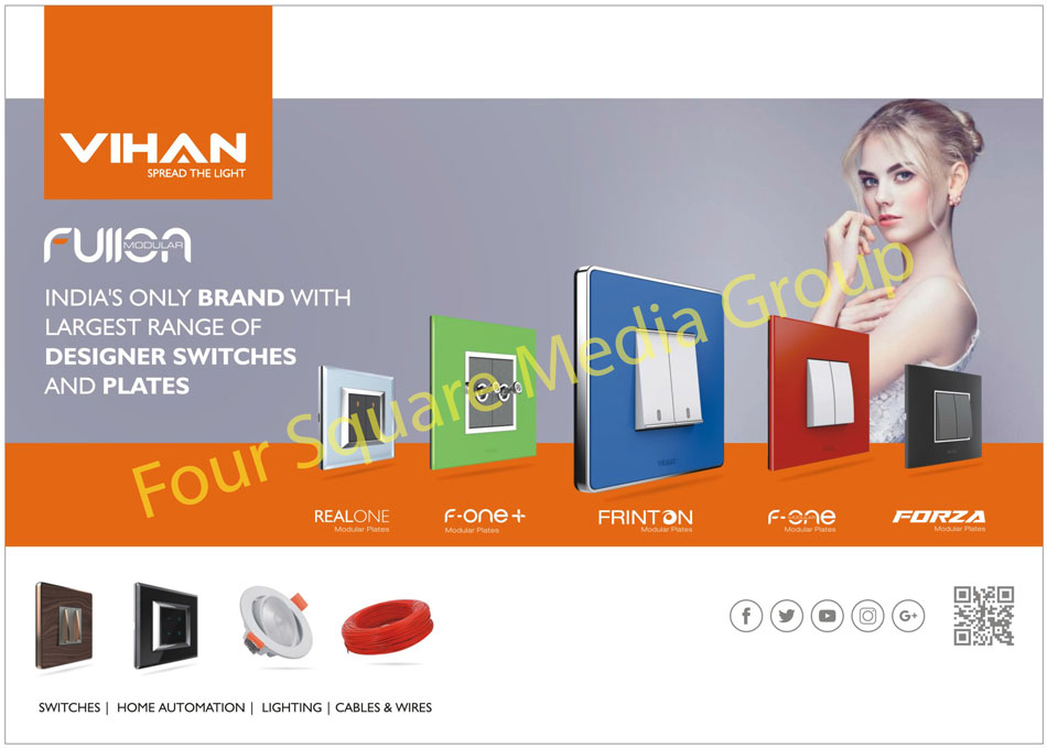 Switches, Home Automation Products, Led Lights, Cables, Wires, Modular Plates