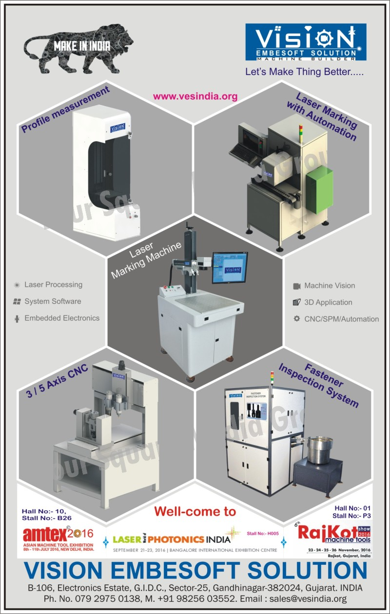 Laser Marking Machines, Text Laser Marking Machines, Serial Number Laser Marking Machines, Date Coding Laser Marking Machines, 1D-2D Barcodes Laser Marking Machines, Logo Laser Marking Machines, Image Laser Marking Machines, 3 Station Marking Machines, Three Station Marking Machines, Rotary Table Marking Machines, Rotating JIG for Bulbs, Fastener Inspection Systems, Axis CNC Machines