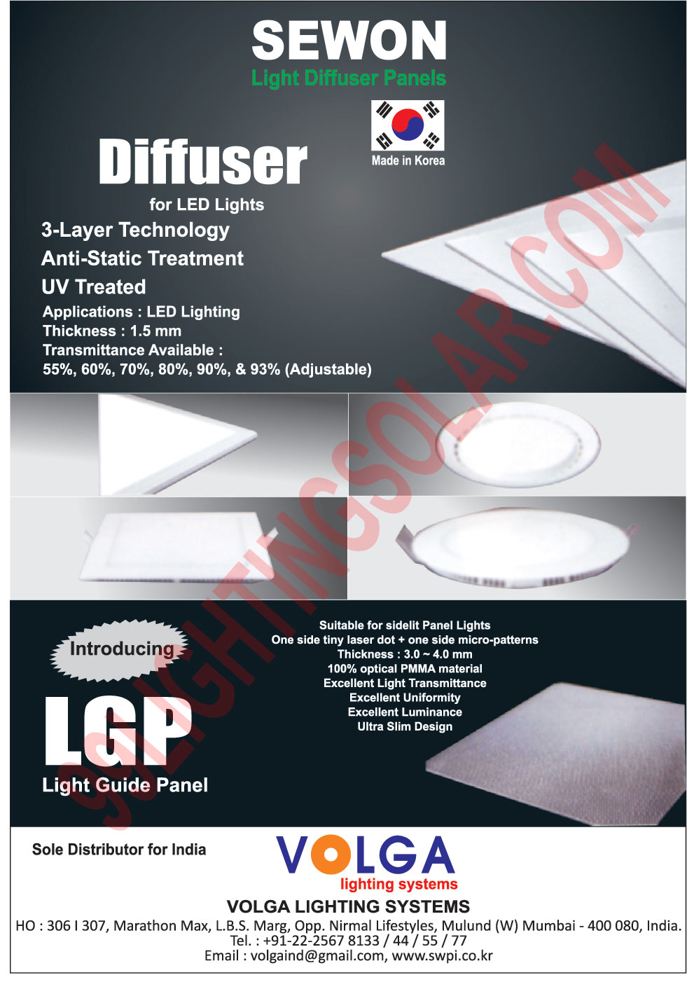 Led Light Diffusers, Light Diffuser Panels, Light Guide Panels,Diffuser