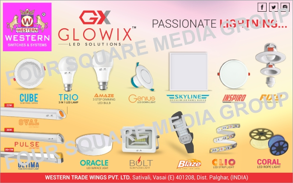 Led Lights, Led Bulbs, Panel Lights, Down Lights, Tube Lights, Surface Lights, Slim Flood Lights, Strip Lights, Rope Lights, Led Lamps
